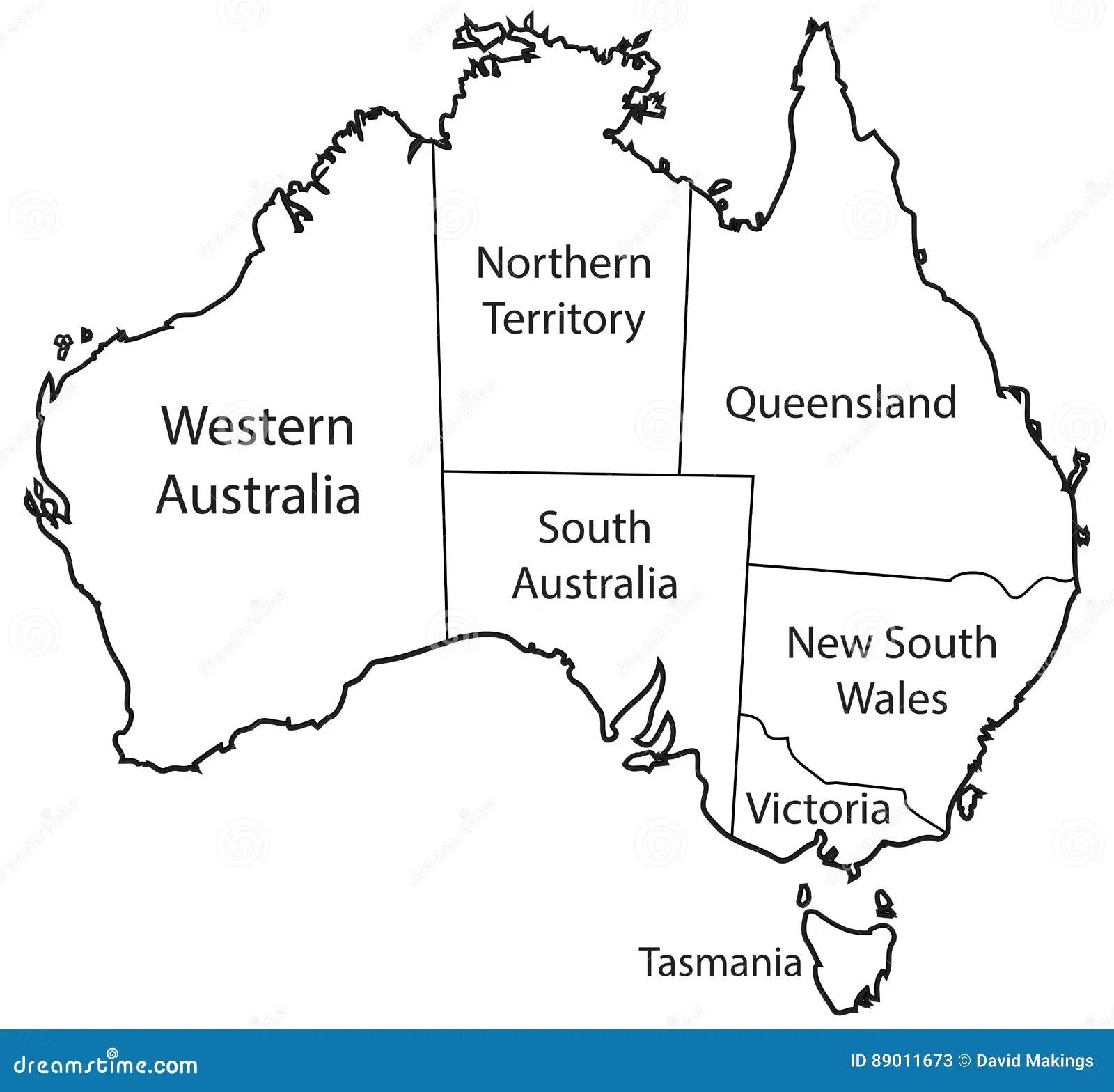 Australia Terytorium Kontur Ilustracji