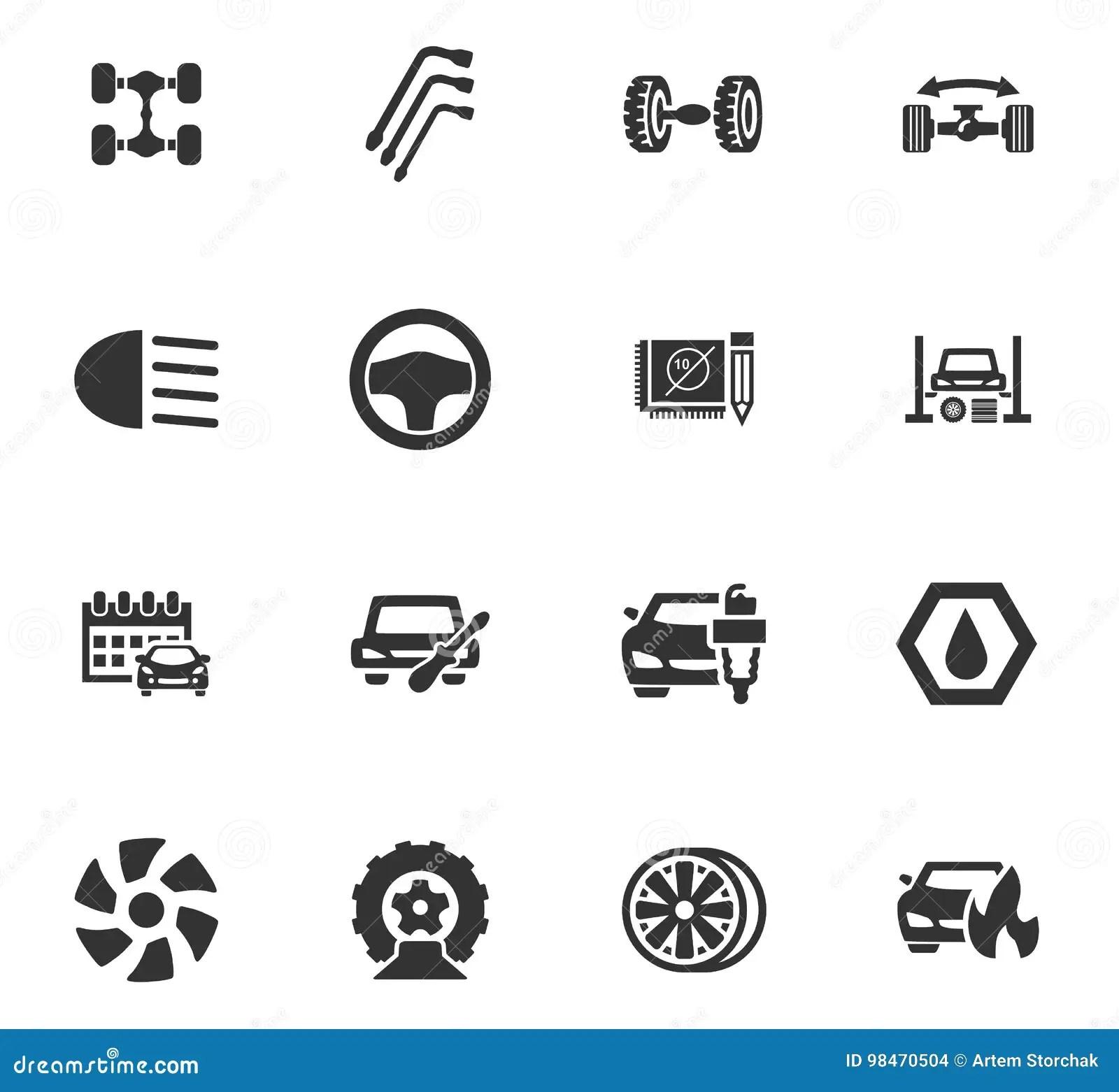 Auto Rear Axle Vector Illustration