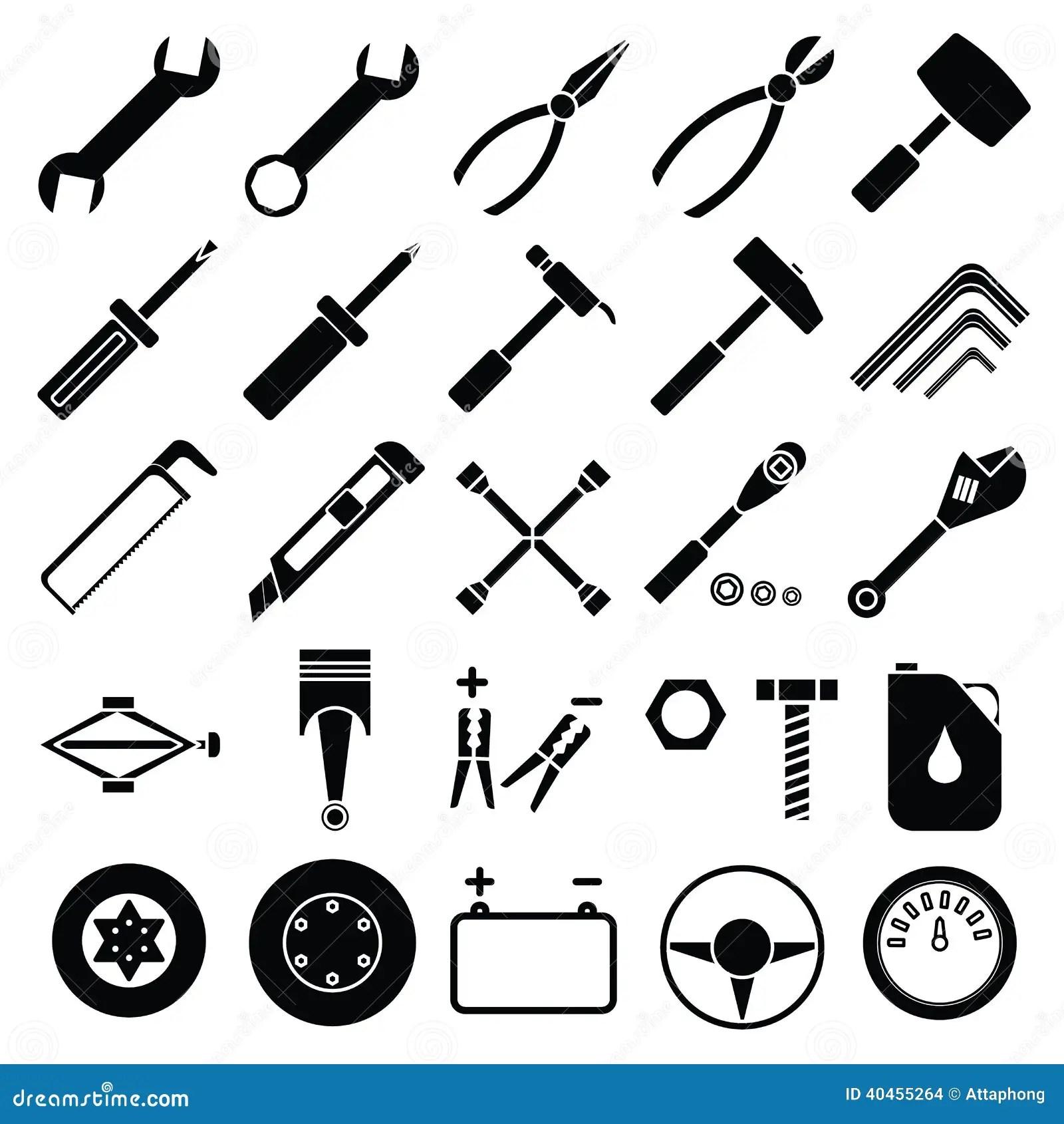 Auto Mechanic Tools Set Vector Stock Vector