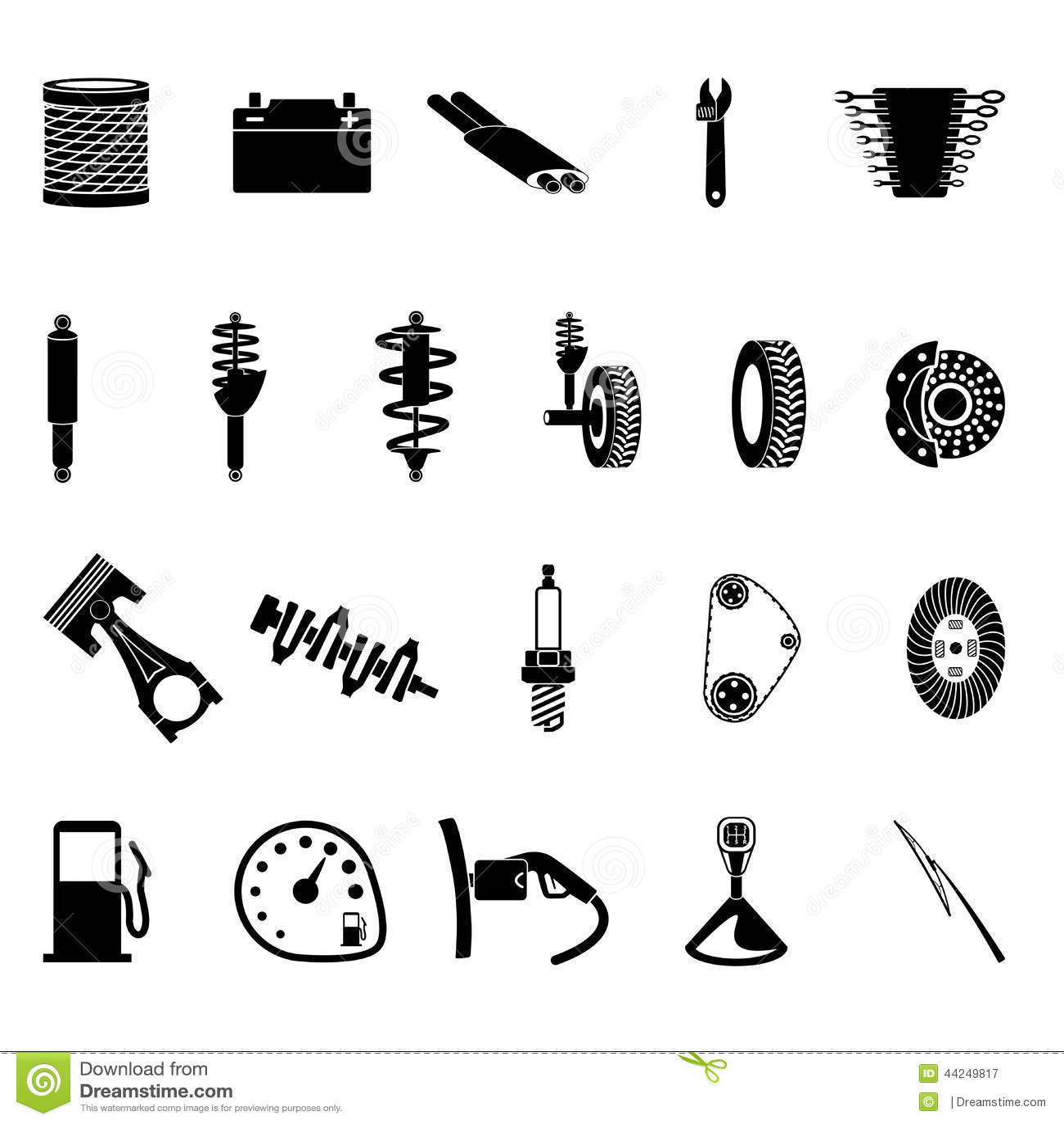 Auto Parts Icon Stock Vector Illustration Of Mechanic
