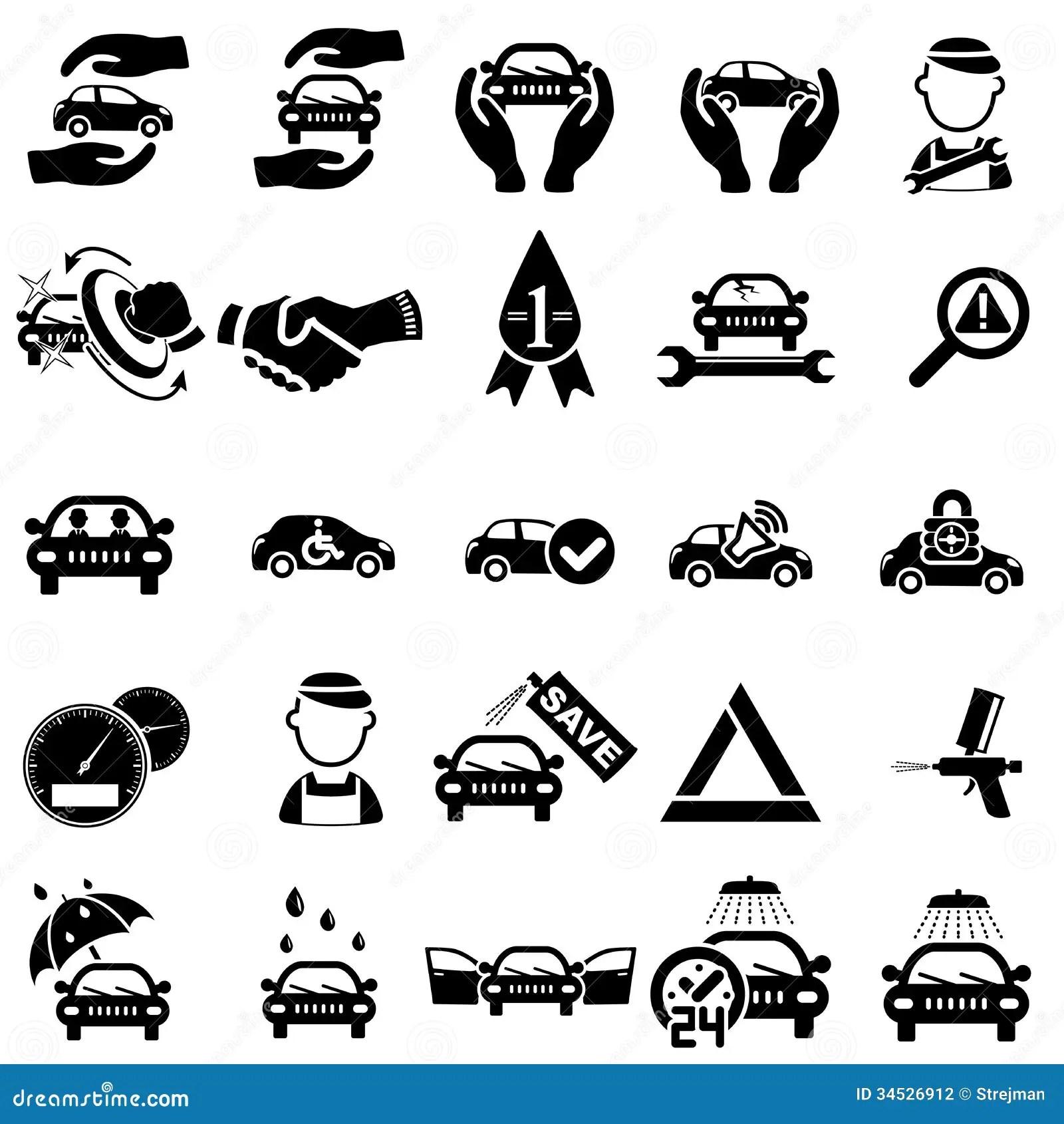 Auto Repair Icons Stock Photography