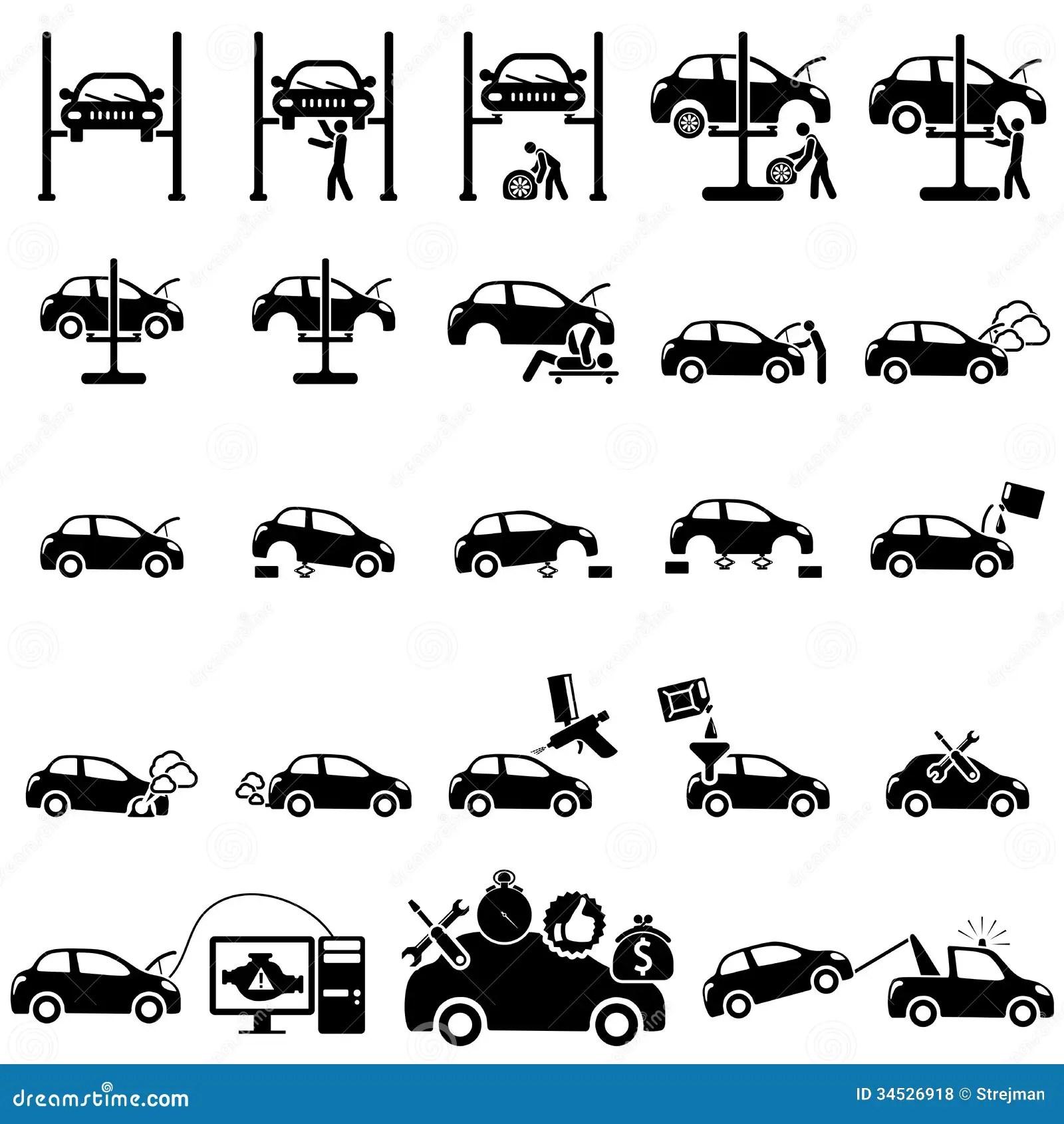 Auto Repair Icons Royalty Free Stock Photos