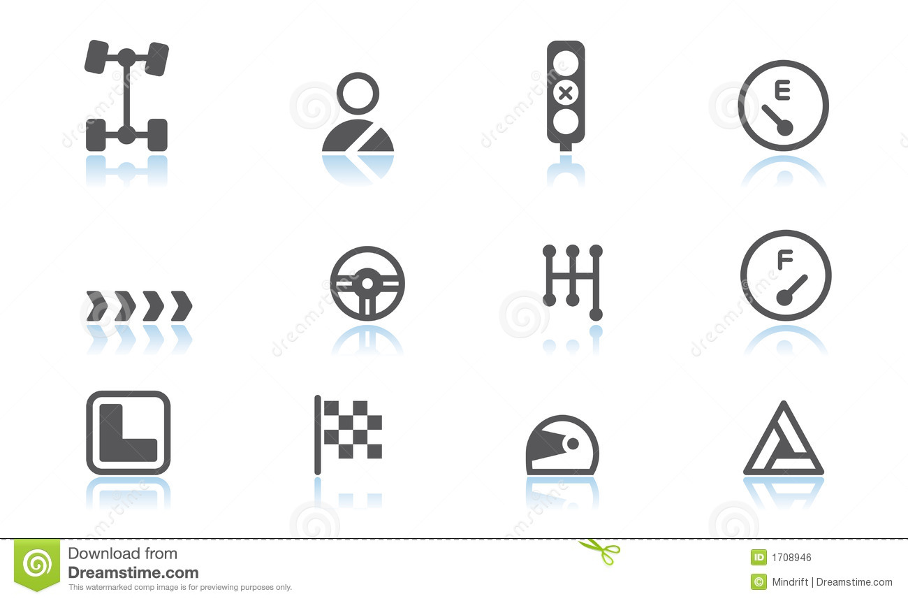 Automobile Icons Stock Vector Illustration Of Icons