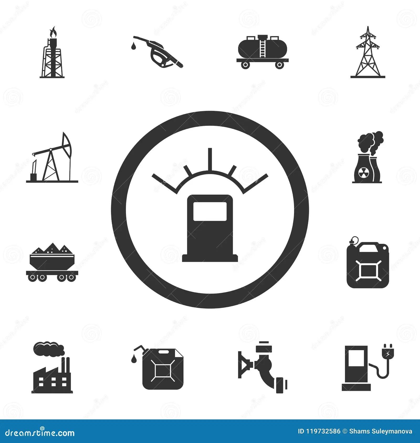 Automotive Fuel Ratio Icon Simple Element Illustration