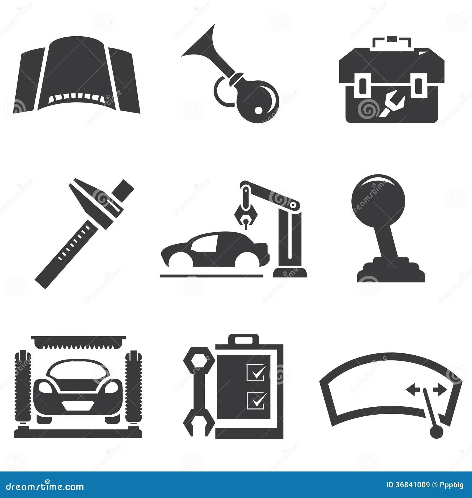 Automotive Icons Stock Illustration Image Of Operator