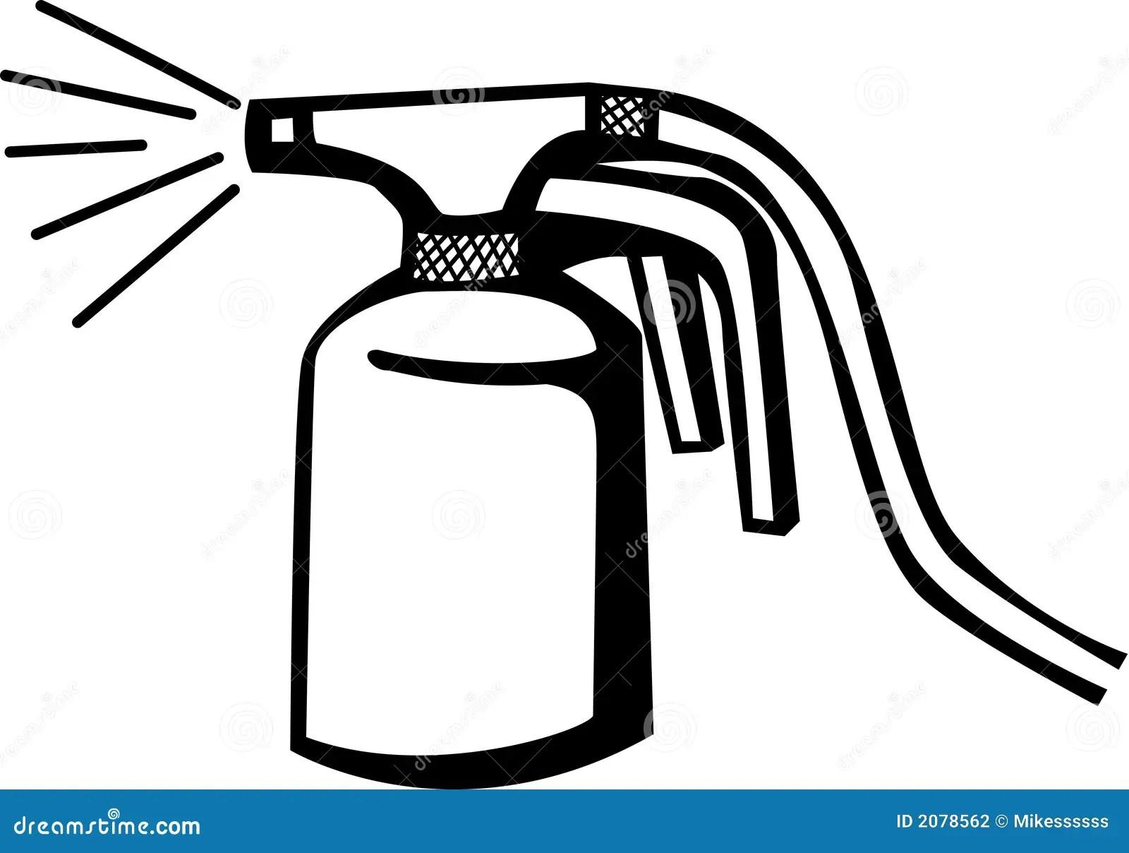 Automotive Paint Sprayer Gun Vector Illustration Stock