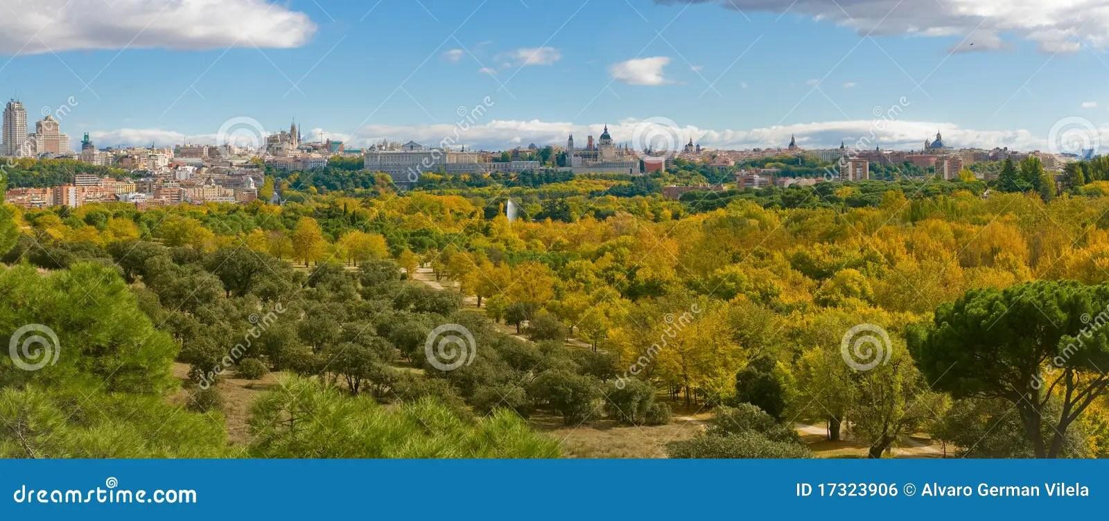 autumn in casa de campo madrid spain royalty free stock image