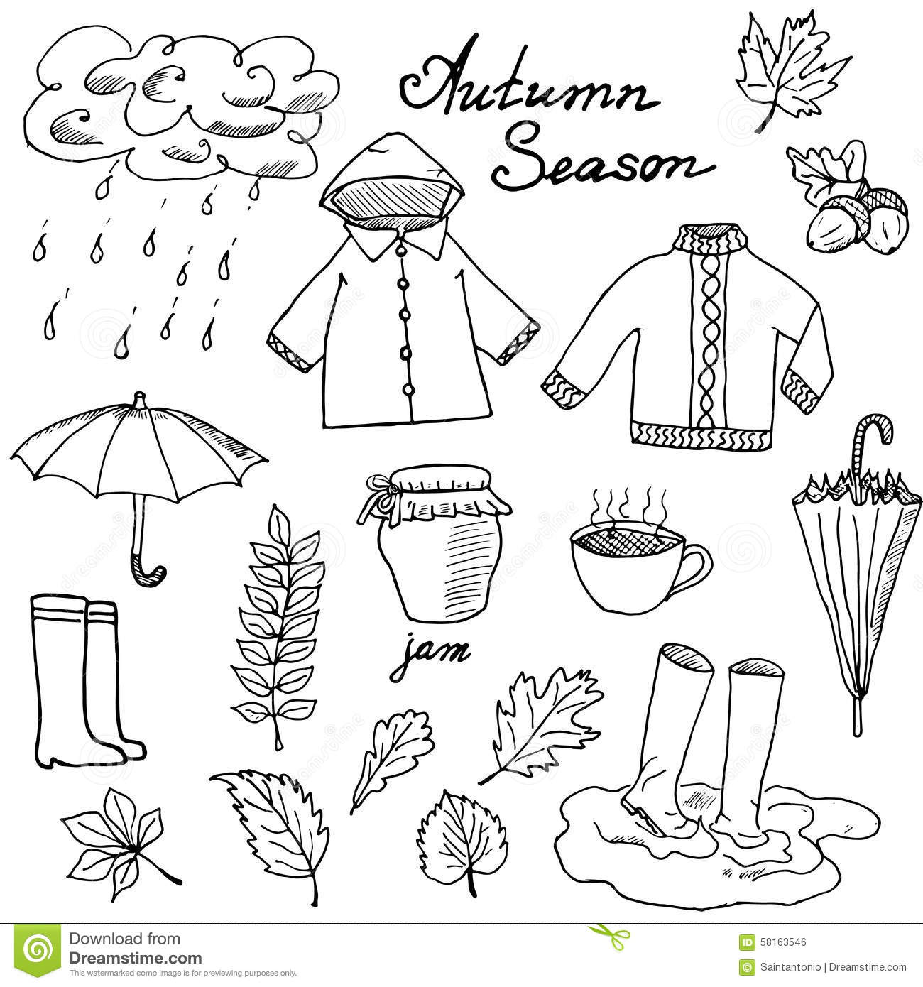 Umbrella Cut And Paste Preschool Worksheet