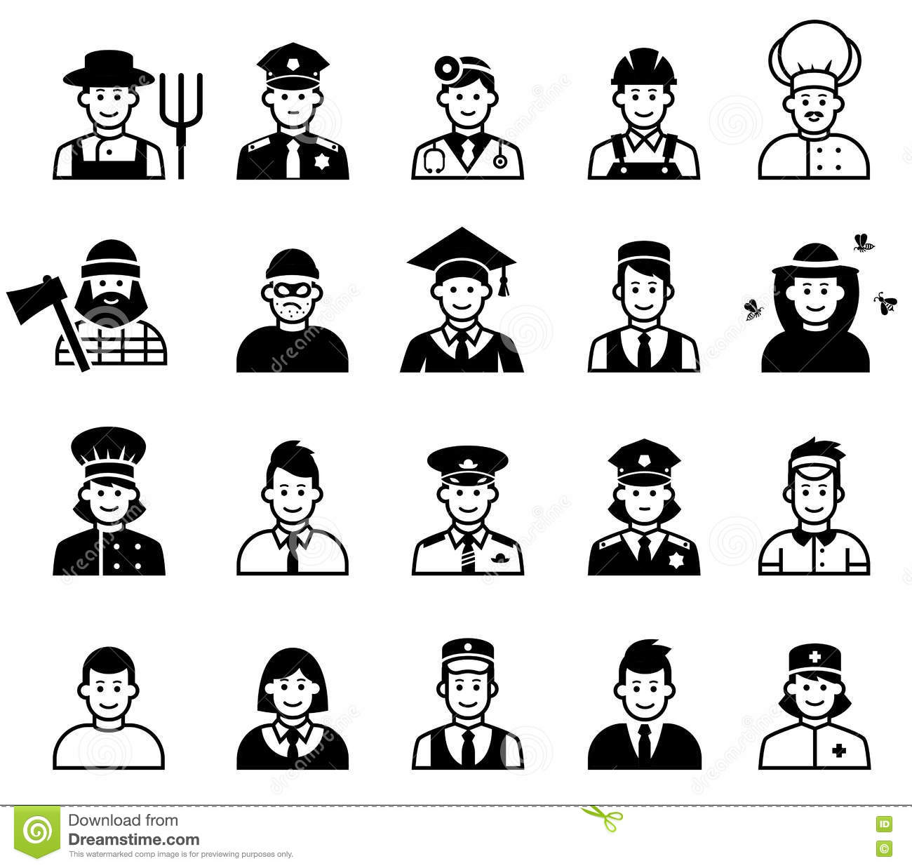 Occupations Cartoons Illustrations Amp Vector Stock Images