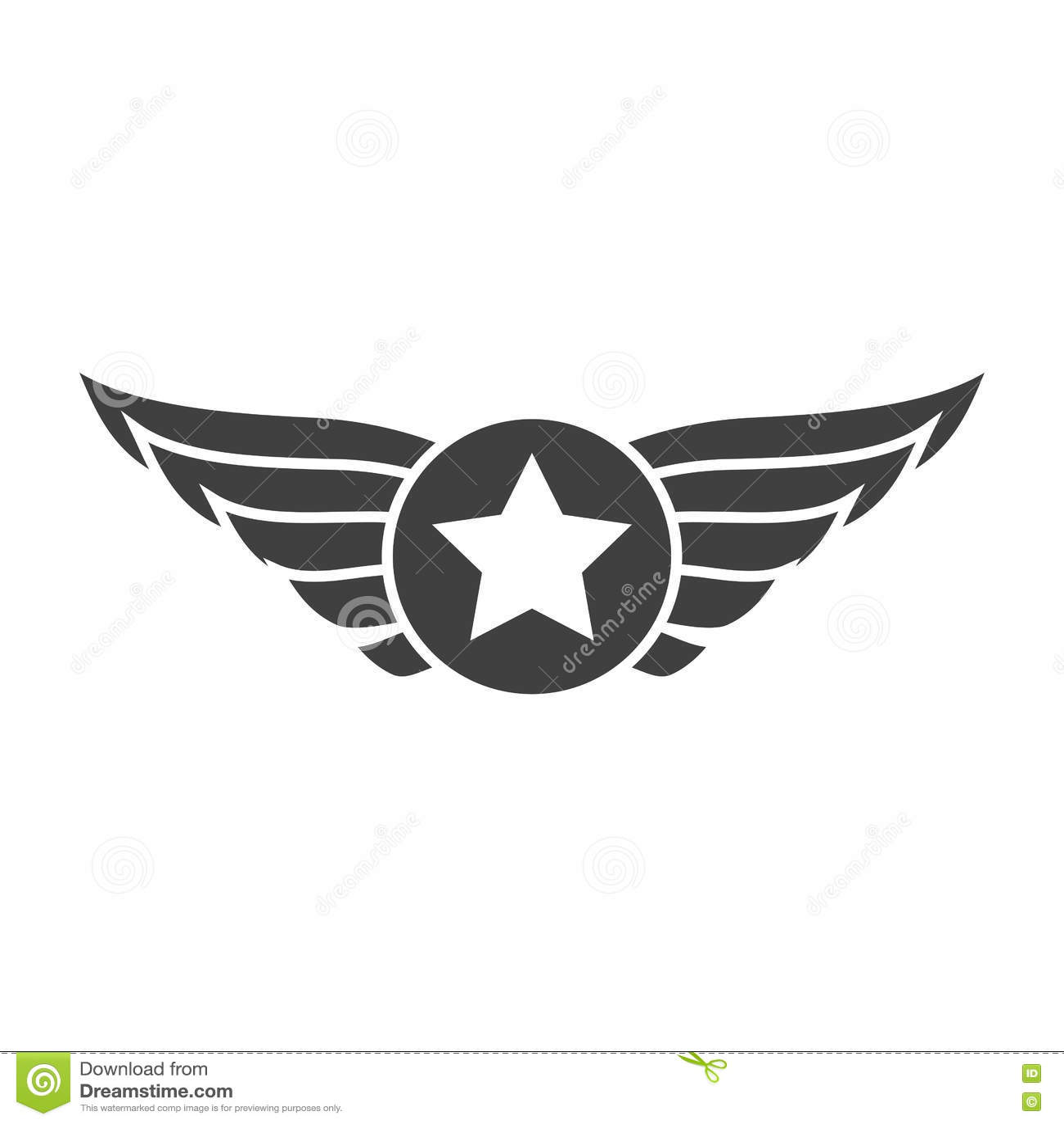Aviation Gray Emblem Badge Or Logo Stock Vector