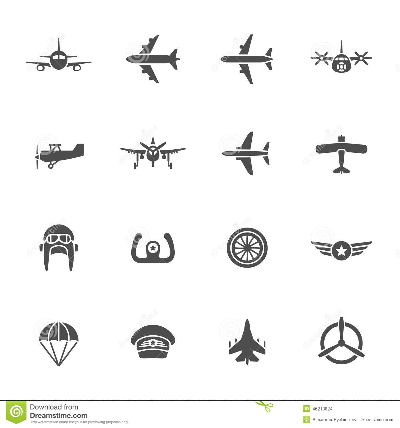 Aircraft Control Wheel Icon Cartoon Vector