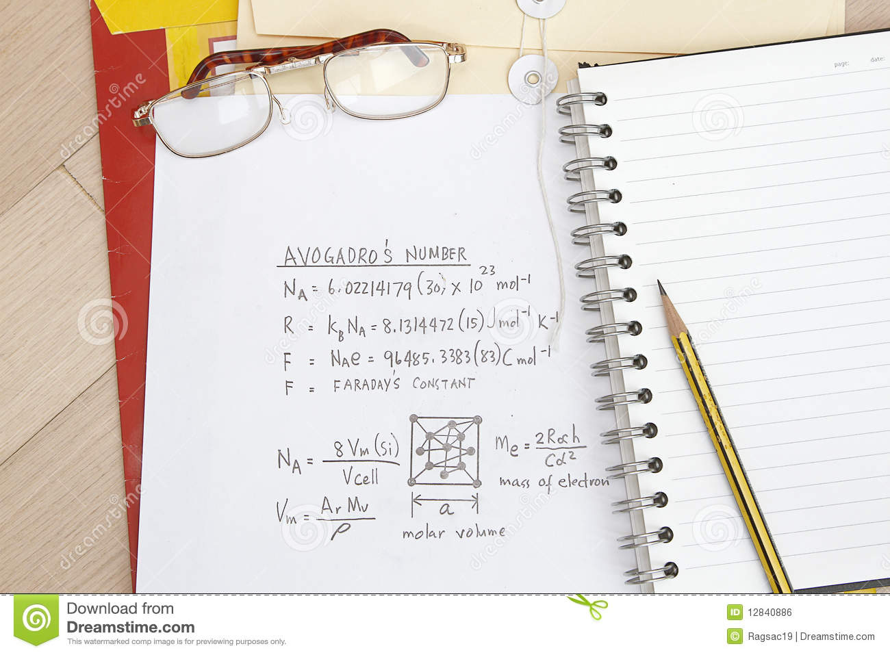 Avogadros Number Royalty Free Stock Image