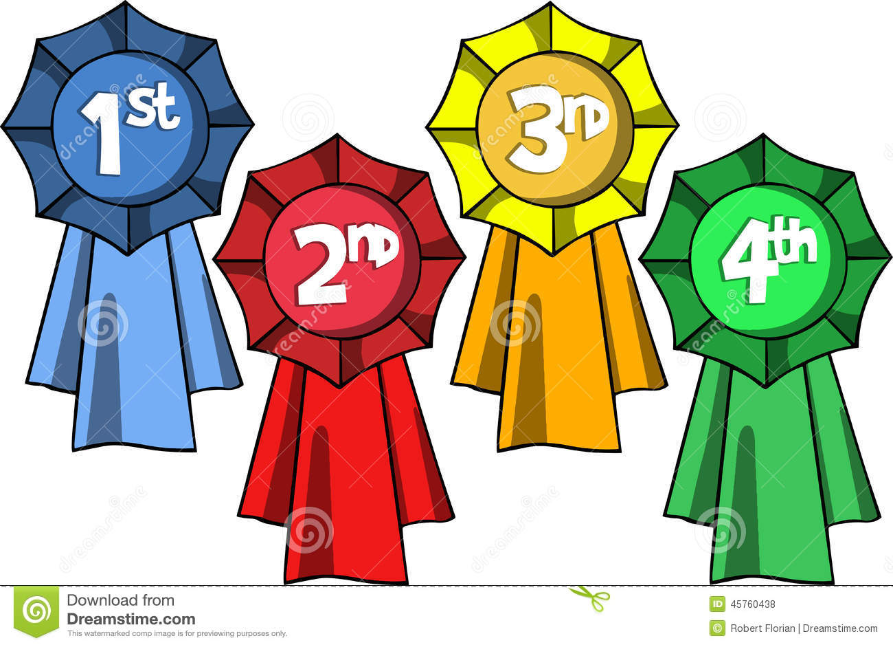 Award Place Labels Stock Vector