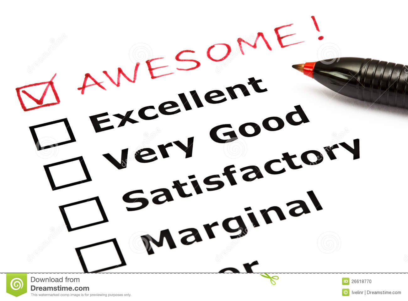 Awesome Evaluation Form Stock Photo Image Of Client