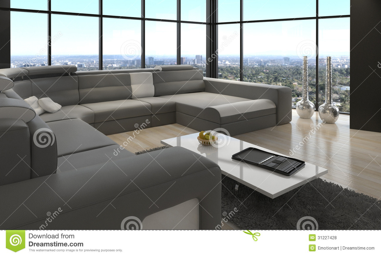 Awesome Modern Loft Living Room Architecture Interior