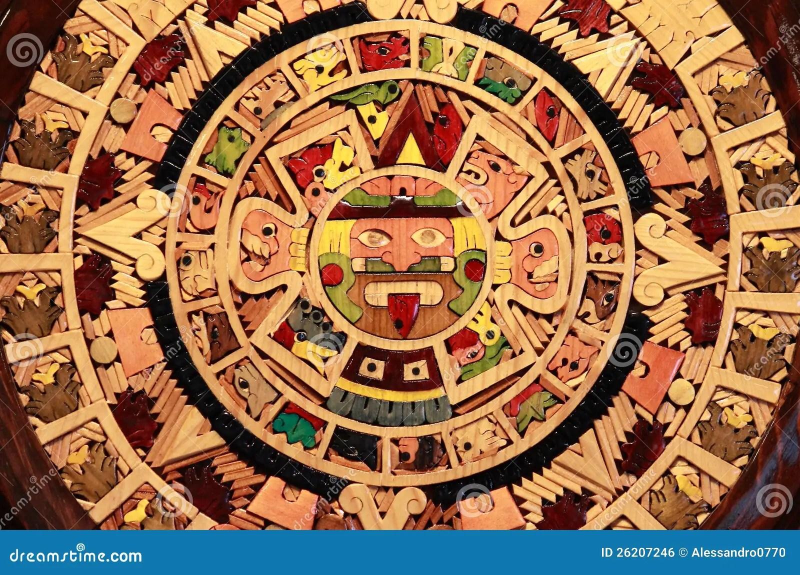 Aztec Calendar Stock Photo Image Of Close Artifacts