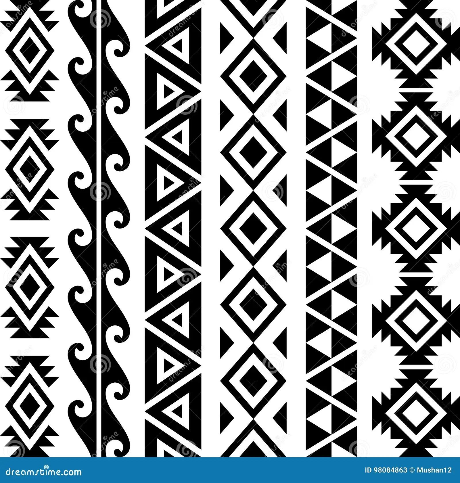 Aztec Tribal Pattern Stock Vector Illustration Of Ancient