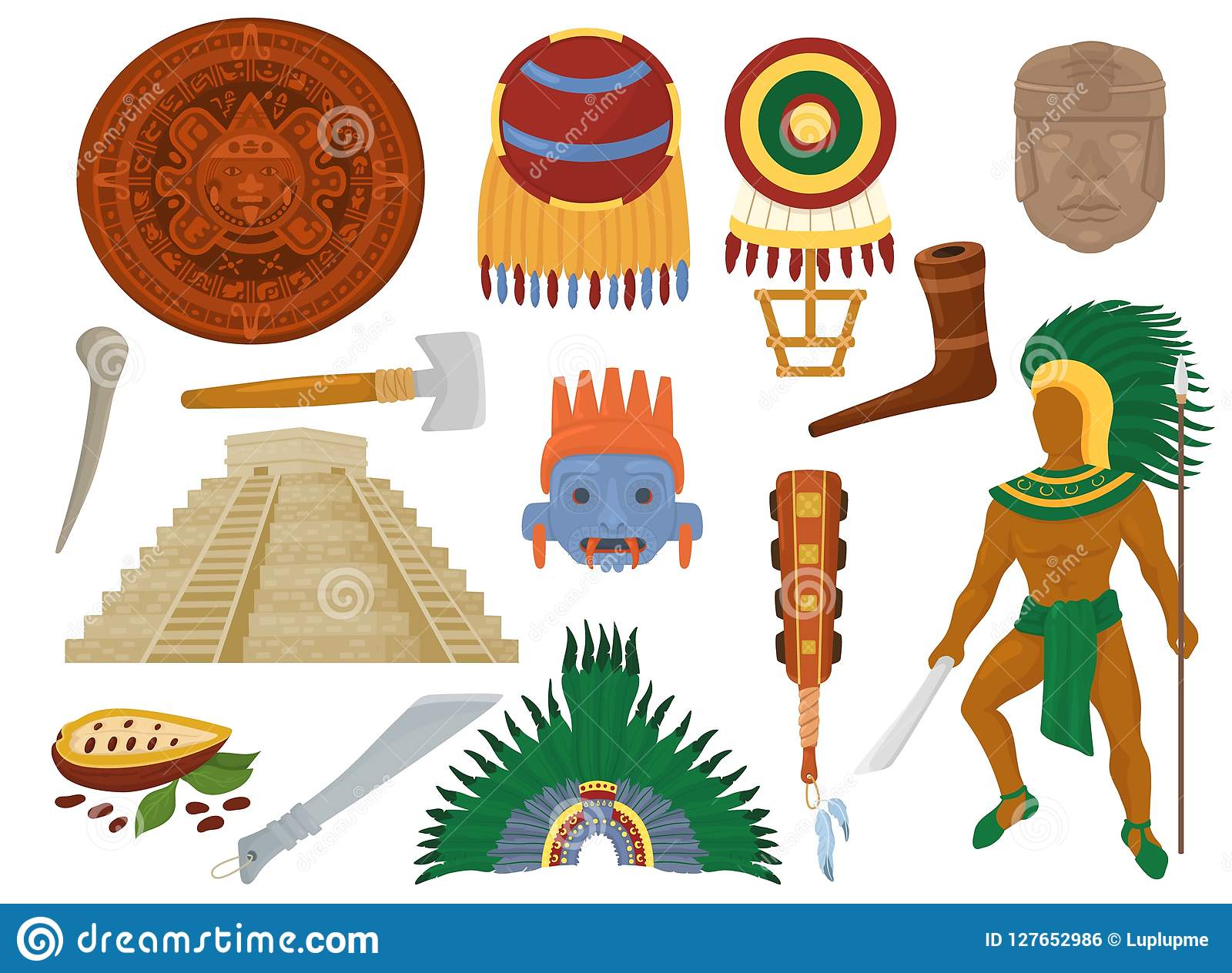 Aztec Vector Mexican Ancient Culture In Mexico And Maya