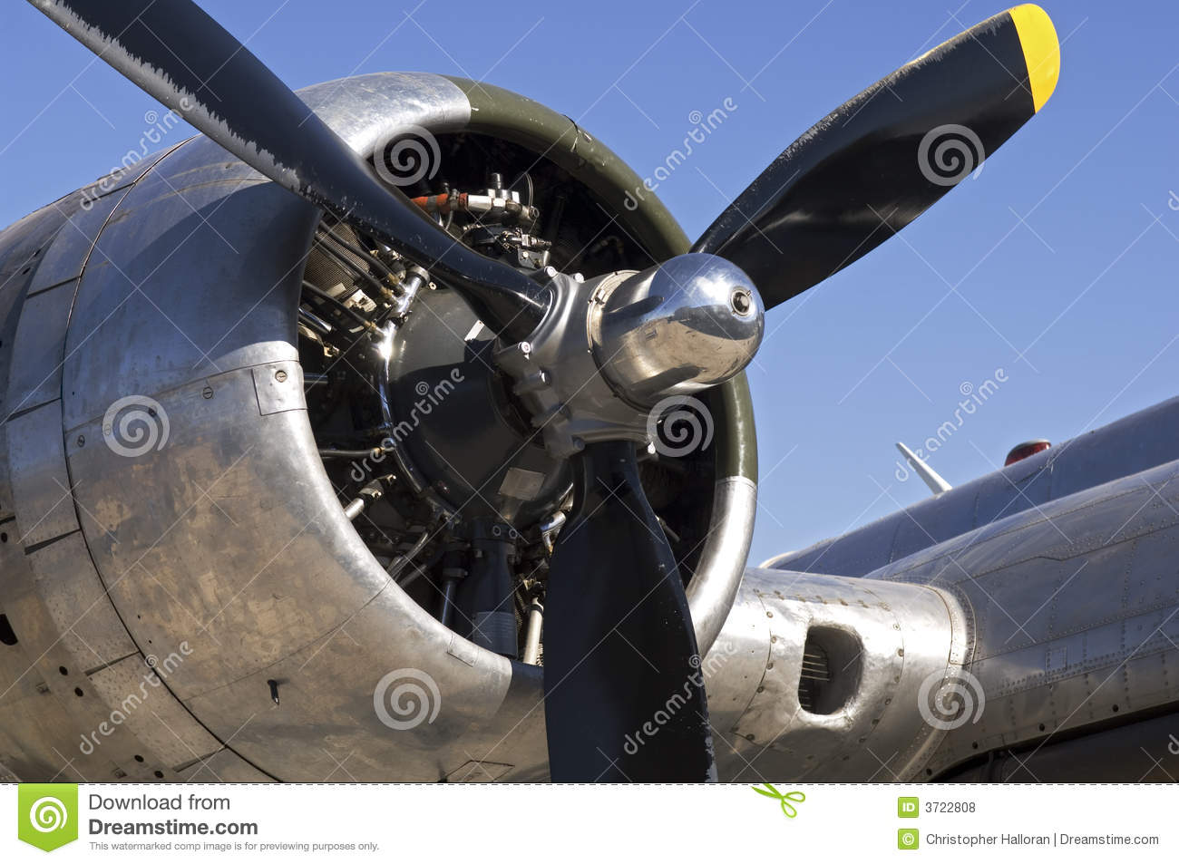 B 17 Bomber Engine Stock Photo Image Of Valve Plane