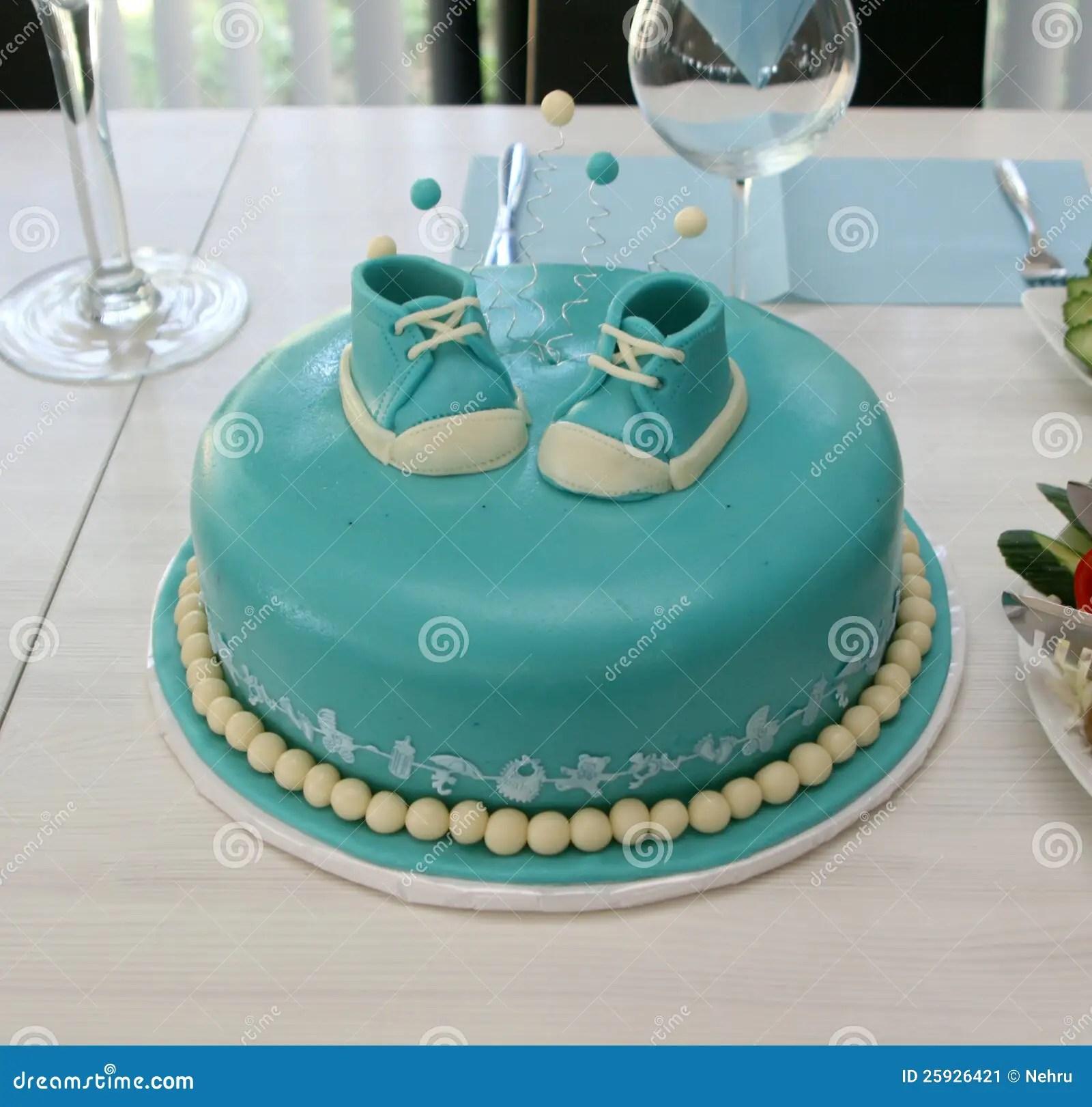 Baby Boy Birthday Cake Stock Image Image Of Celebration 25926421