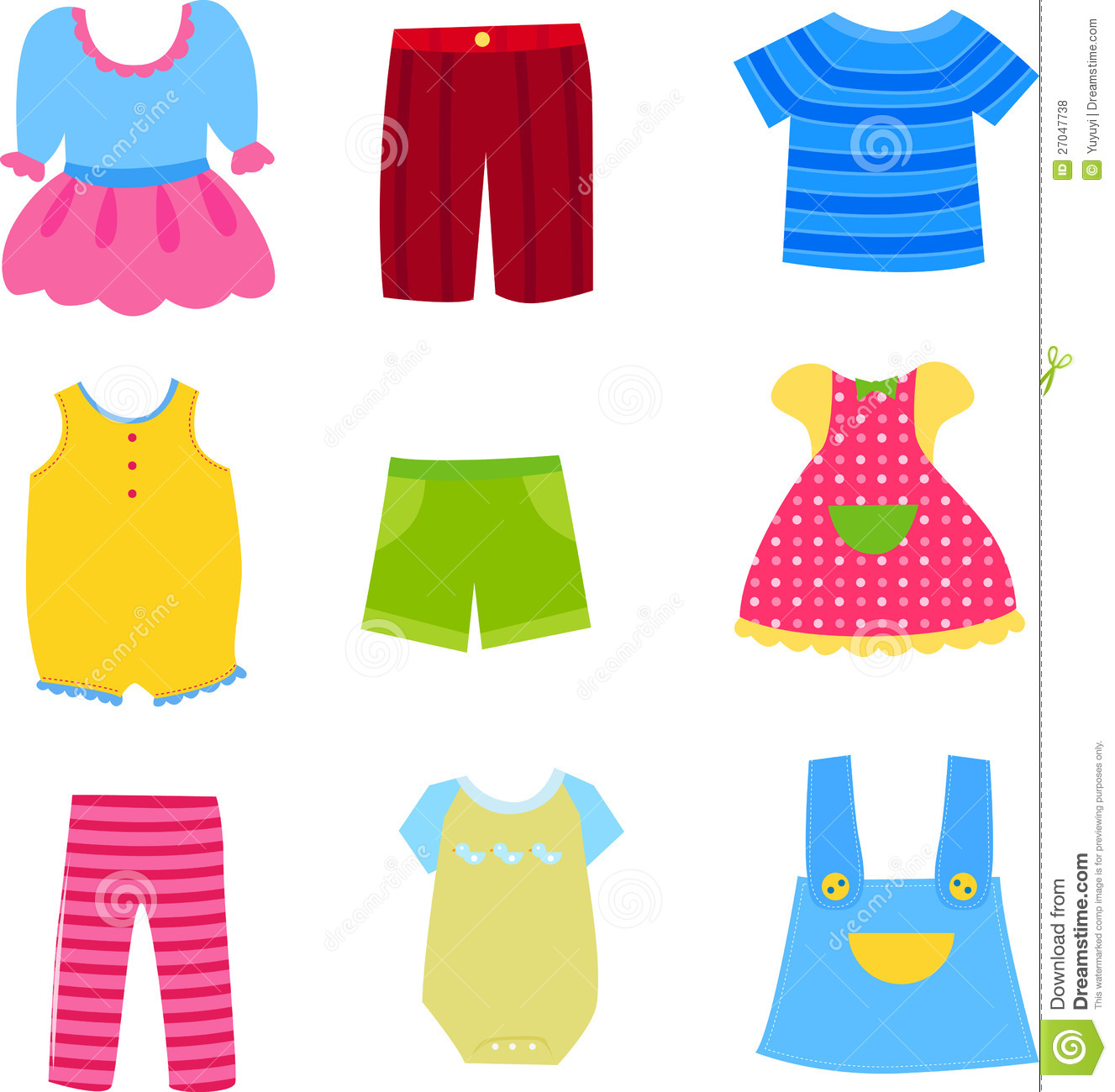 Baby And Children Clothes Collection Royalty Free Stock