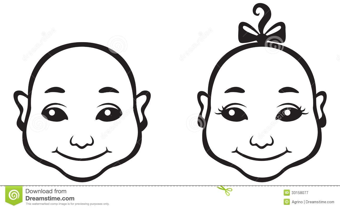 Baby Face Stock Vector Illustration Of Girl Kids Baby
