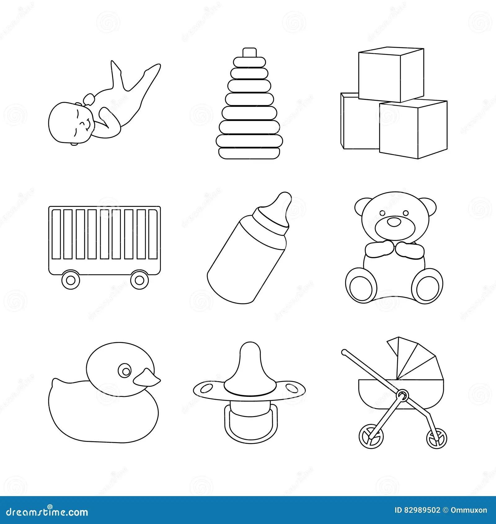 Alphabet Blocks Style Vector Set Cartoon Vector