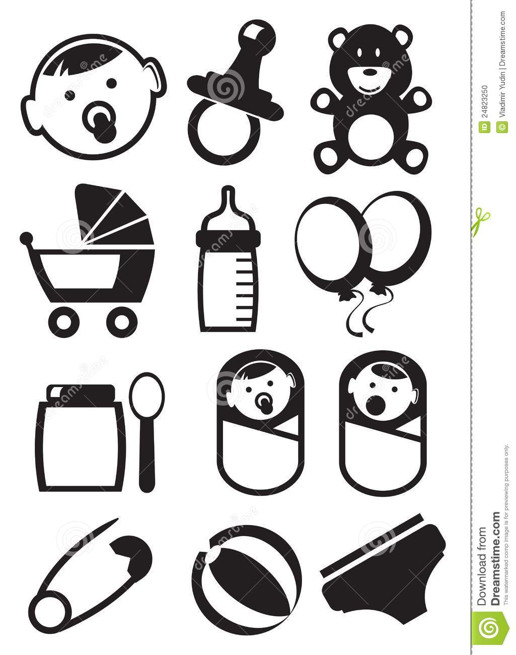 Baby Icons Stock Photo