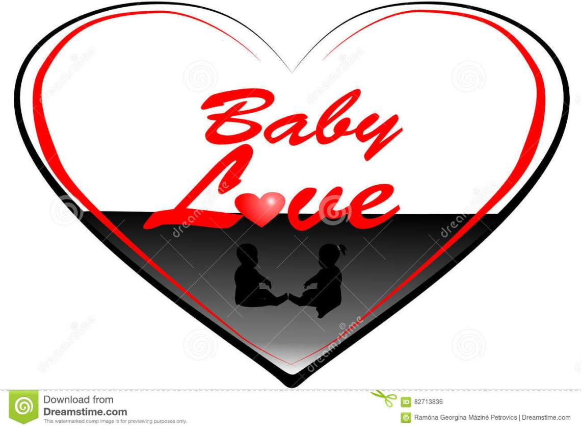 Download Baby love 3 stock vector. Illustration of drawing, text ...