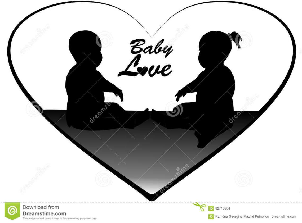 Download Baby love 1 stock vector. Illustration of drawing, baby ...