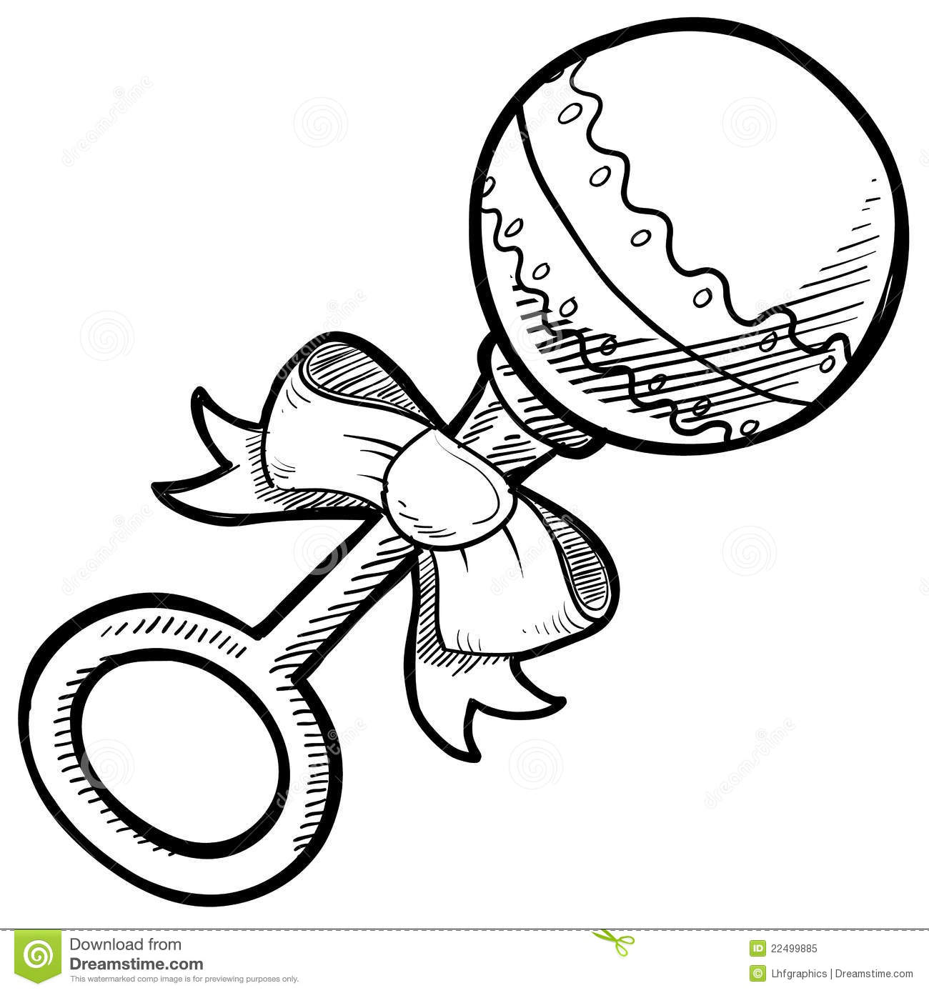 Baby Rattle Drawing Royalty Free Stock Photo