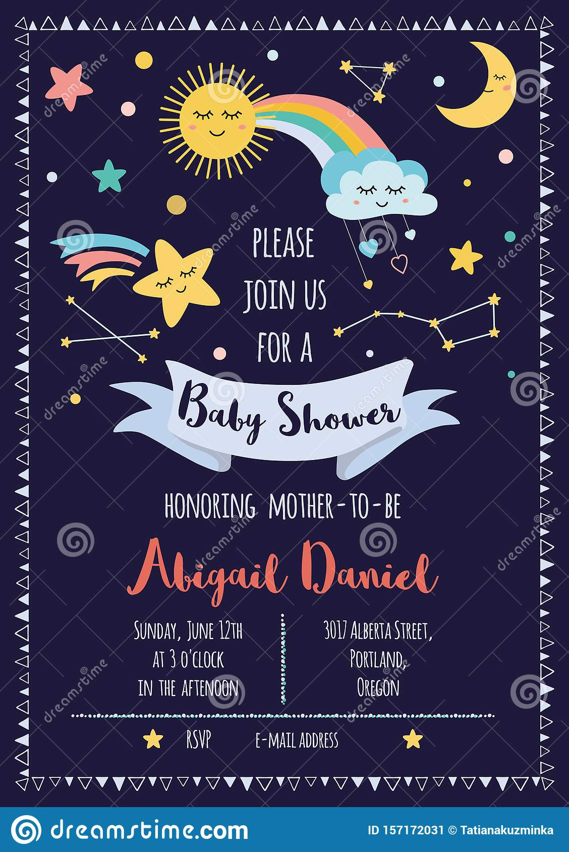 Baby Shower Invitation Template For Baby Girls Boys Cute