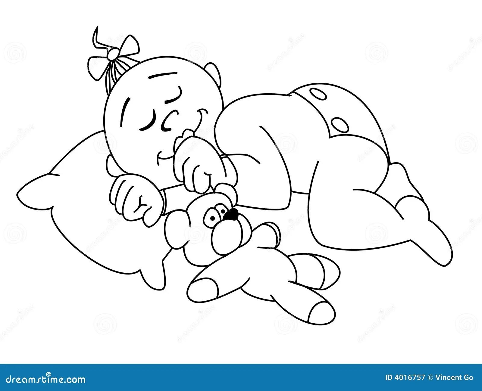 Baby Sleep Stock Illustration Illustration Of Child Girl