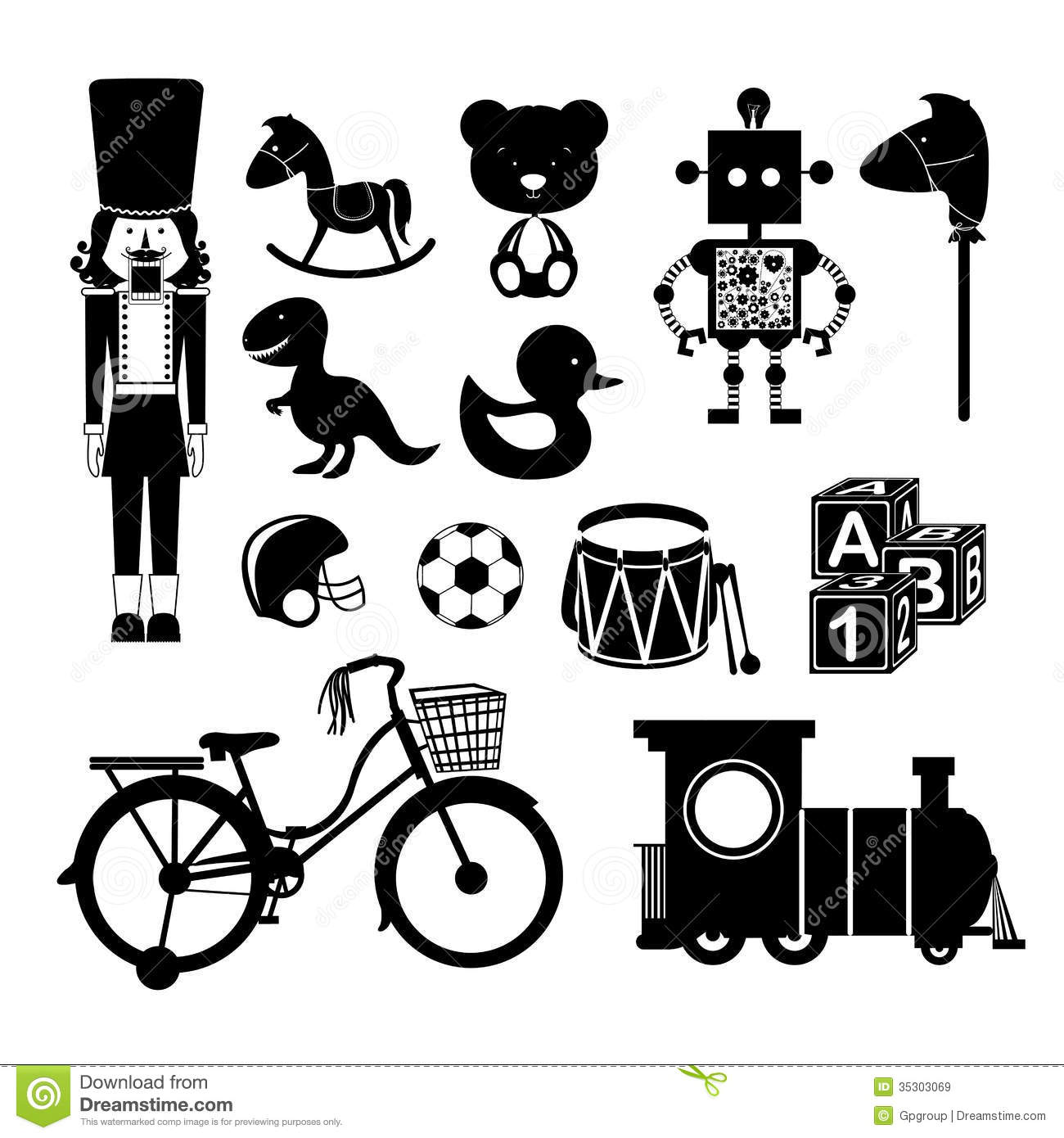 Baby Toys Stock Vector Illustration Of Icons Object