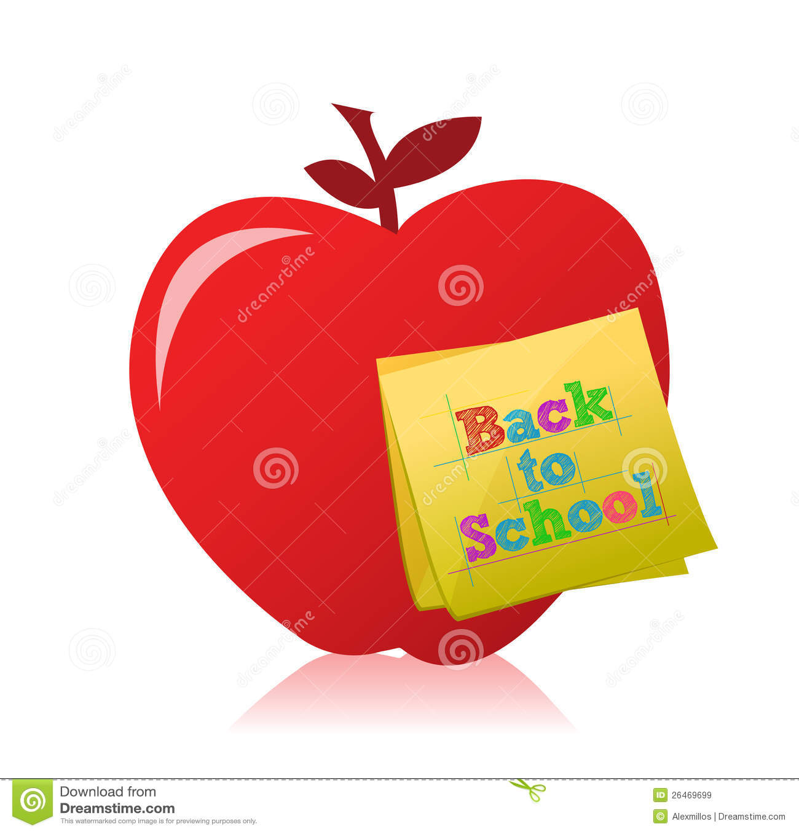 Back To School Apple Illustration Design Royalty Free