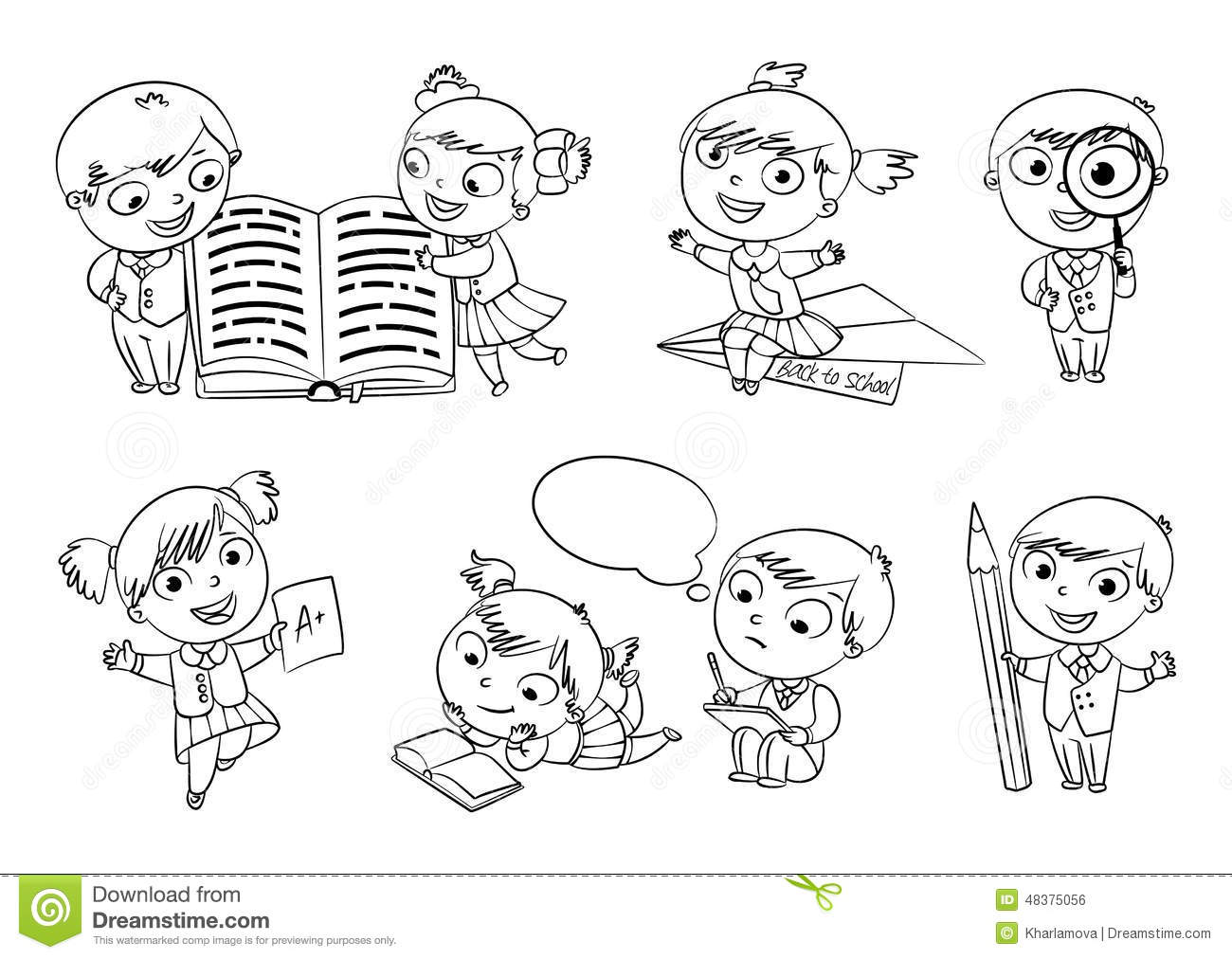 Back To School Coloring Book Stock Vector