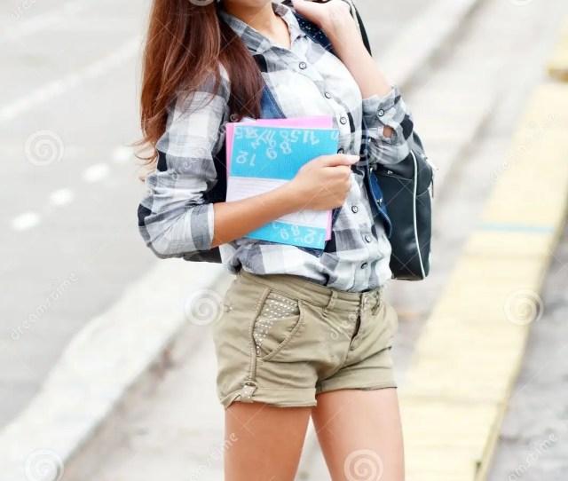 Back To School Teen Girl Outdoor