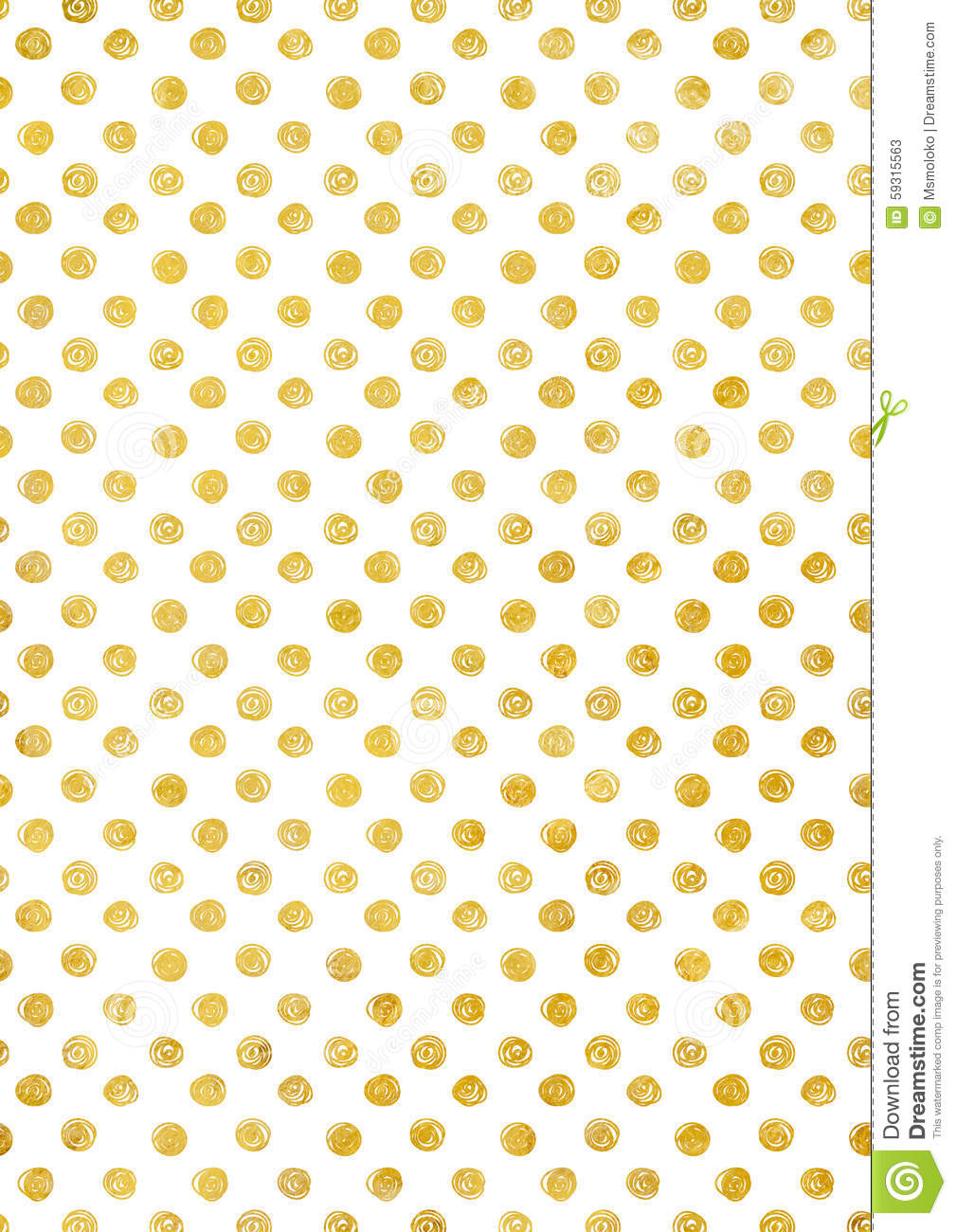 Background In Gold Polka Dot Holiday Texture Stock Image