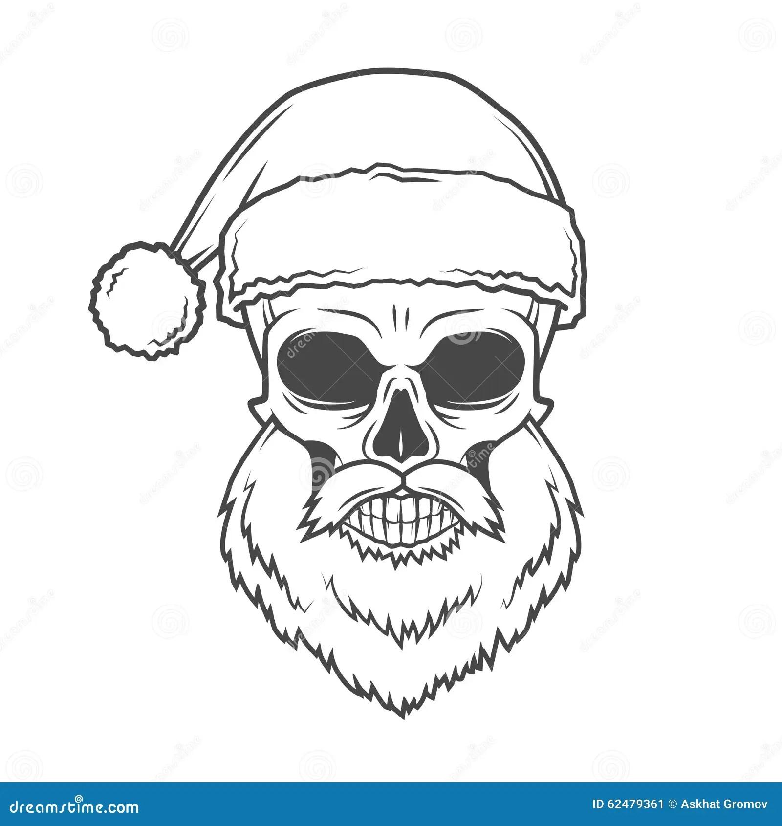 Bad Santa Claus Biker Poster Heavy Metal Stock Vector
