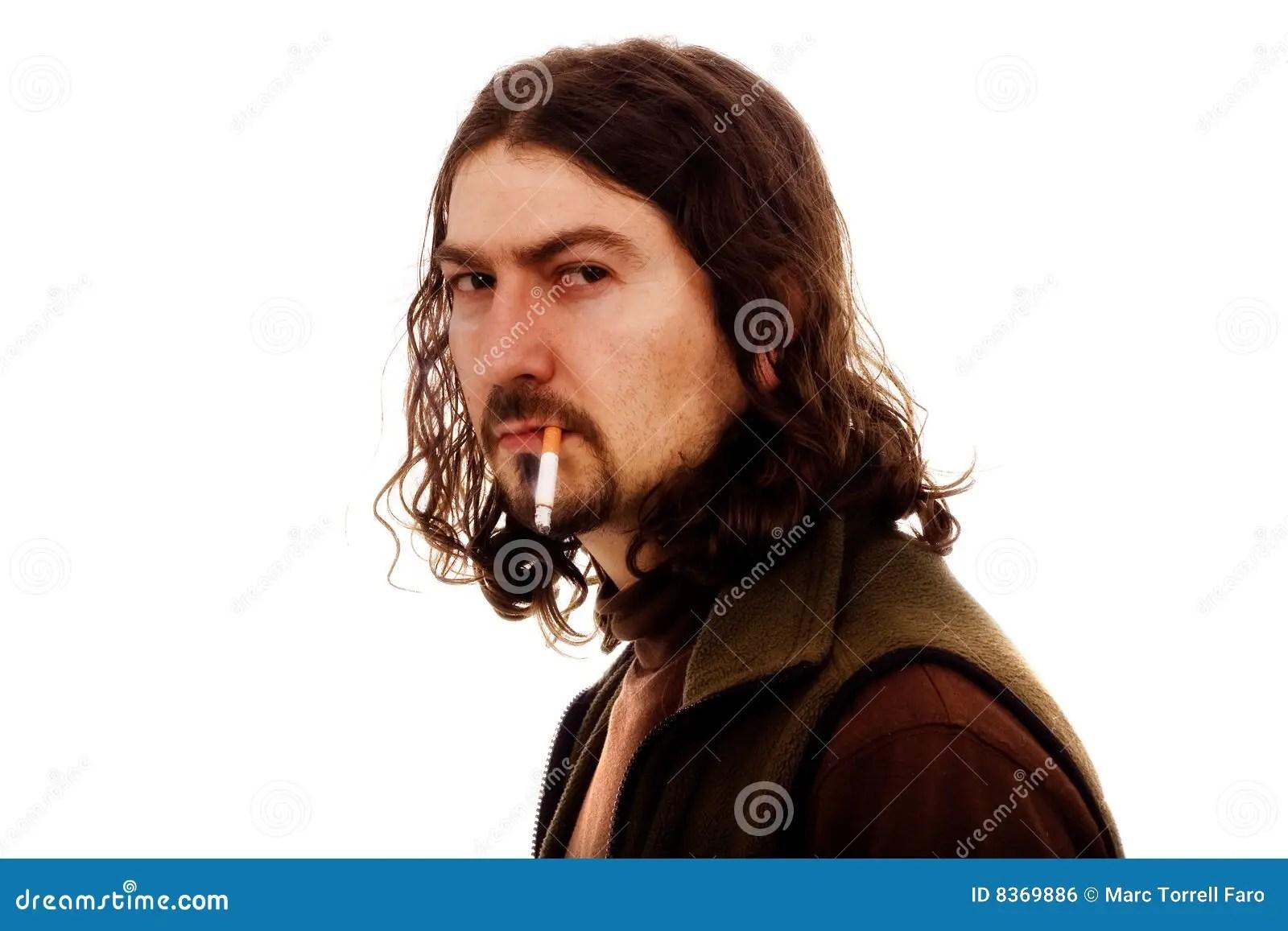 Bad Smoker Man Royalty Free Stock Image Image 8369886
