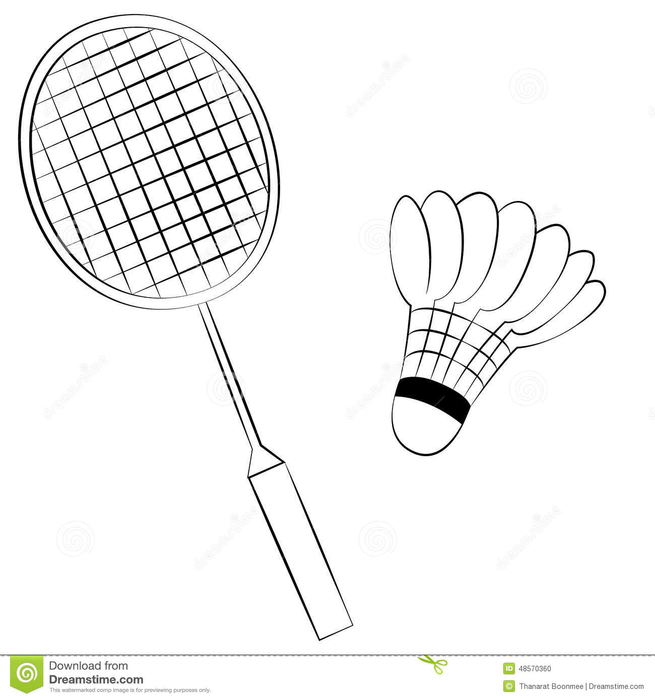 Badminton Stock Vector