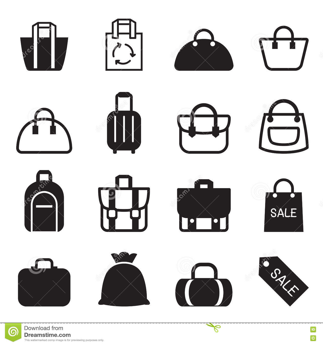 Bag Icon Stock Illustration Illustration Of Icon Lady