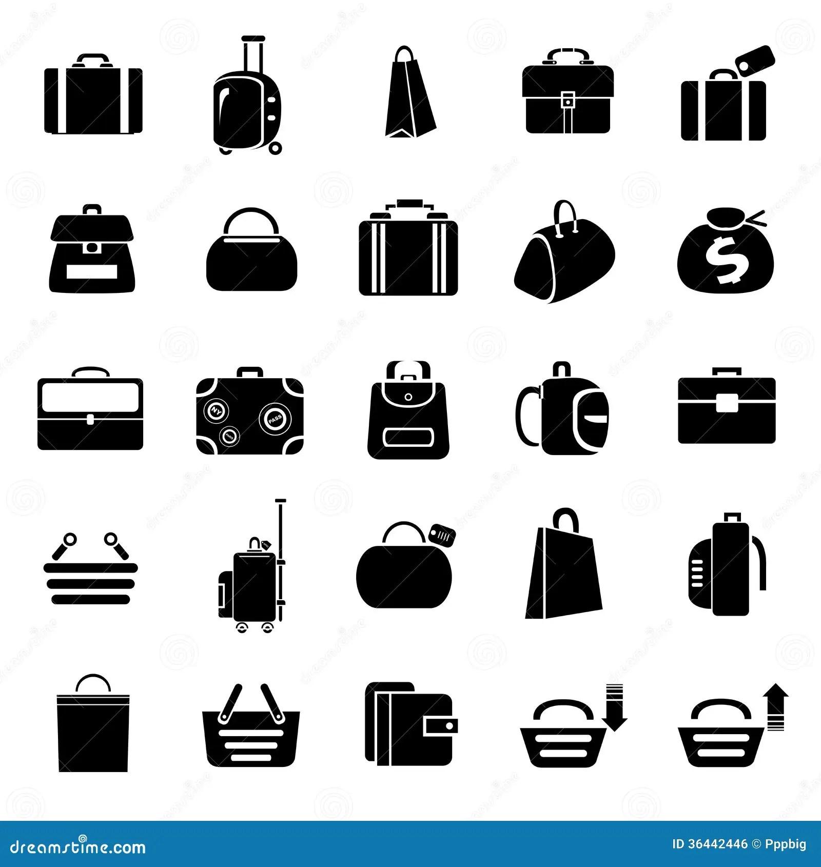 Bag Icons Royalty Free Stock Image