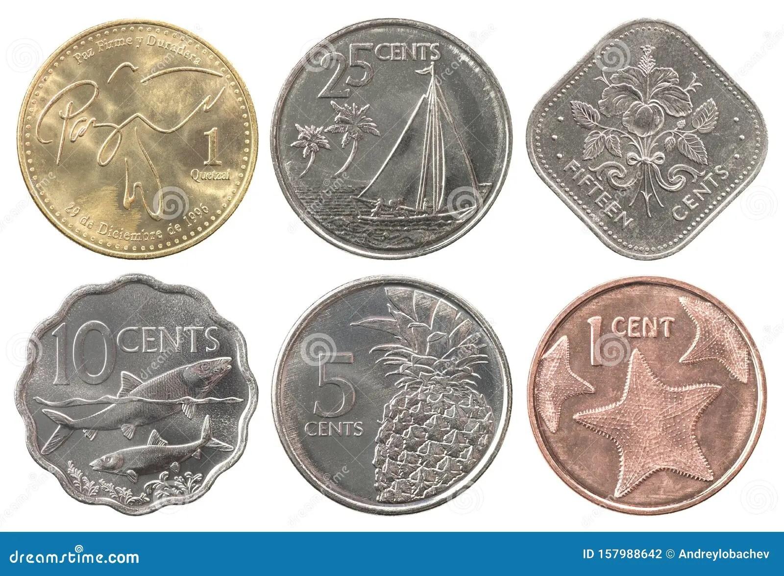 Bahamas Coins Full Set Stock Photo Image Of Five