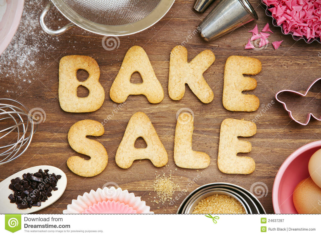 Bake Sale Cookies Royalty Free Stock Photography Image
