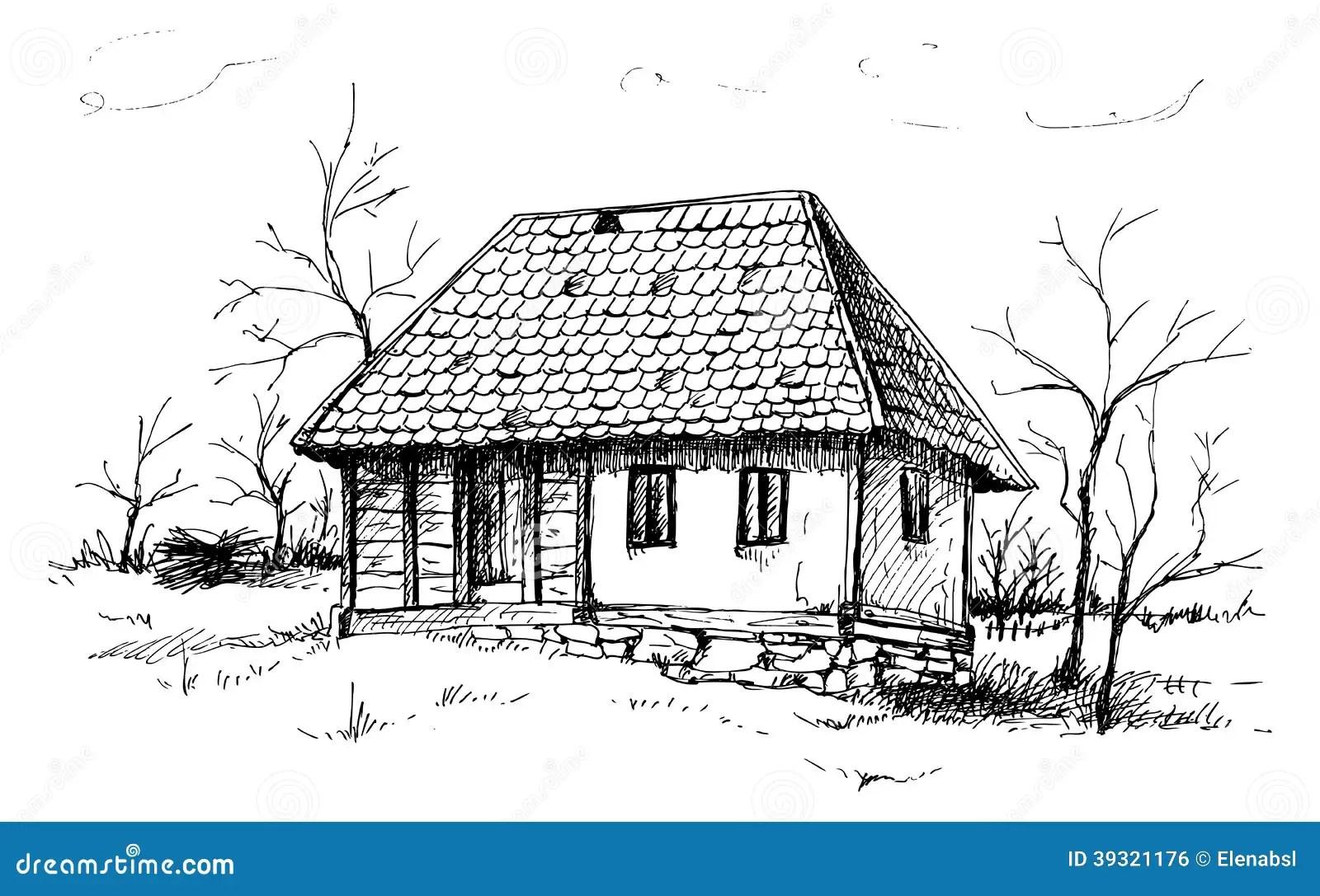 Balkan House Stock Vector