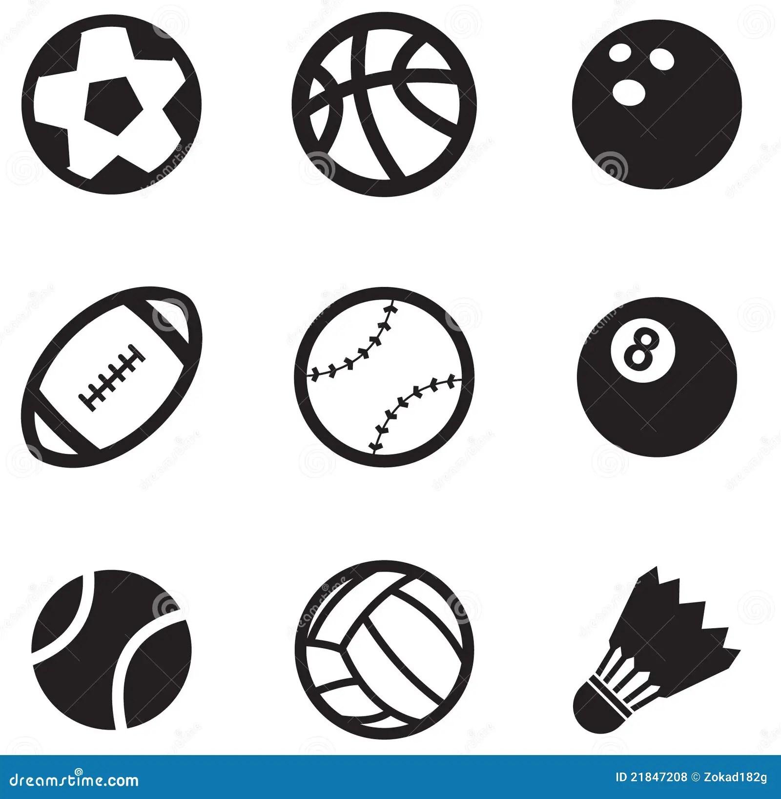 Ball Icons Stock Vector Illustration Of Handball