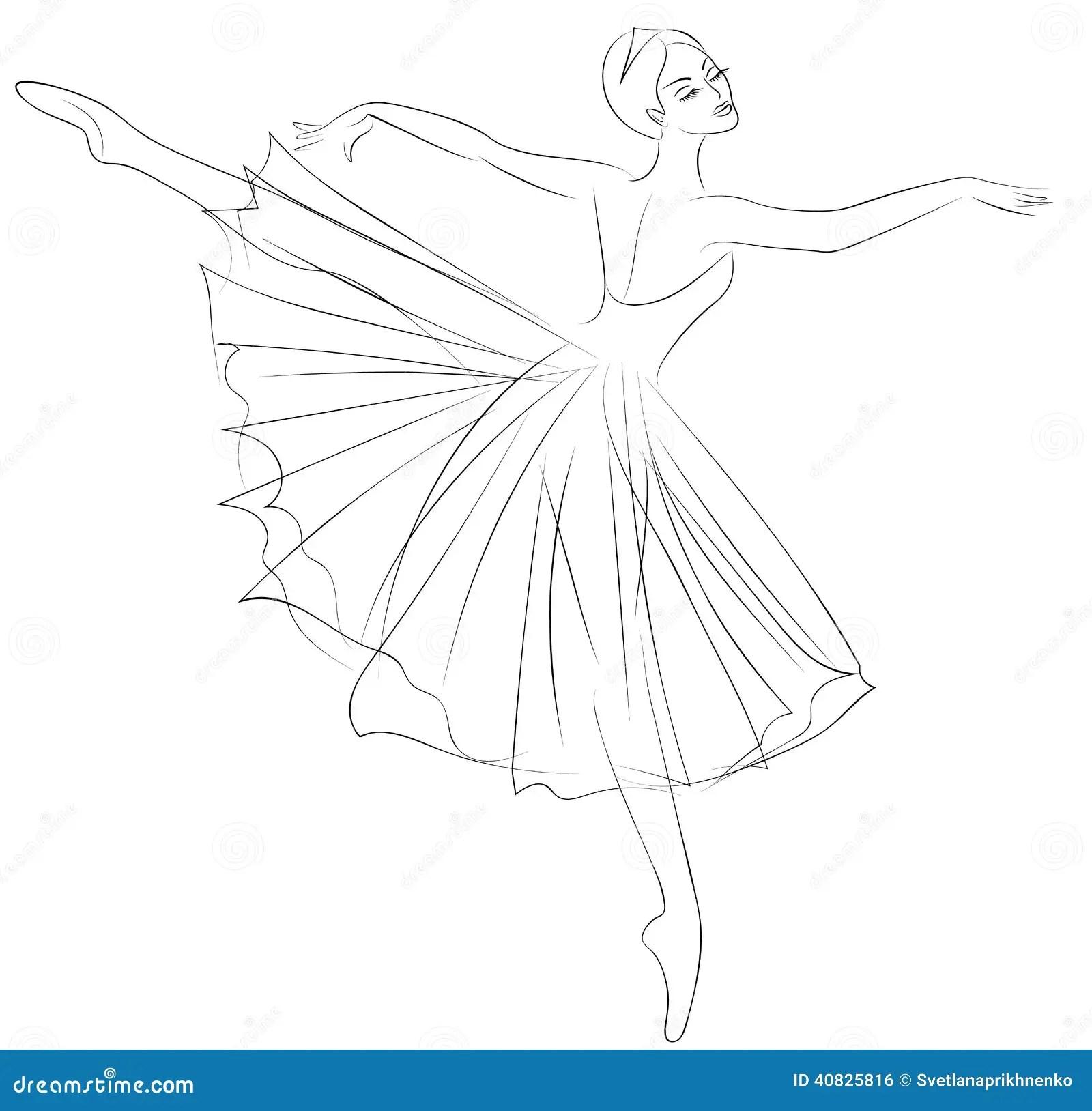 Ballerina Vektor Abbildung Illustration Von Schwan