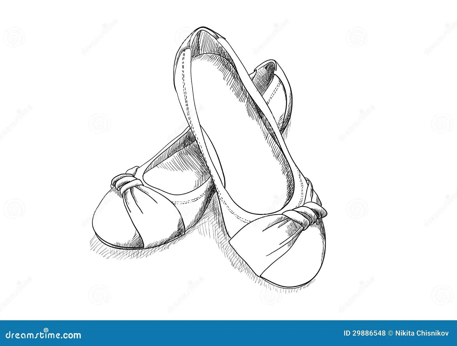 Ballerina Shoes Royalty Free Stock Photos