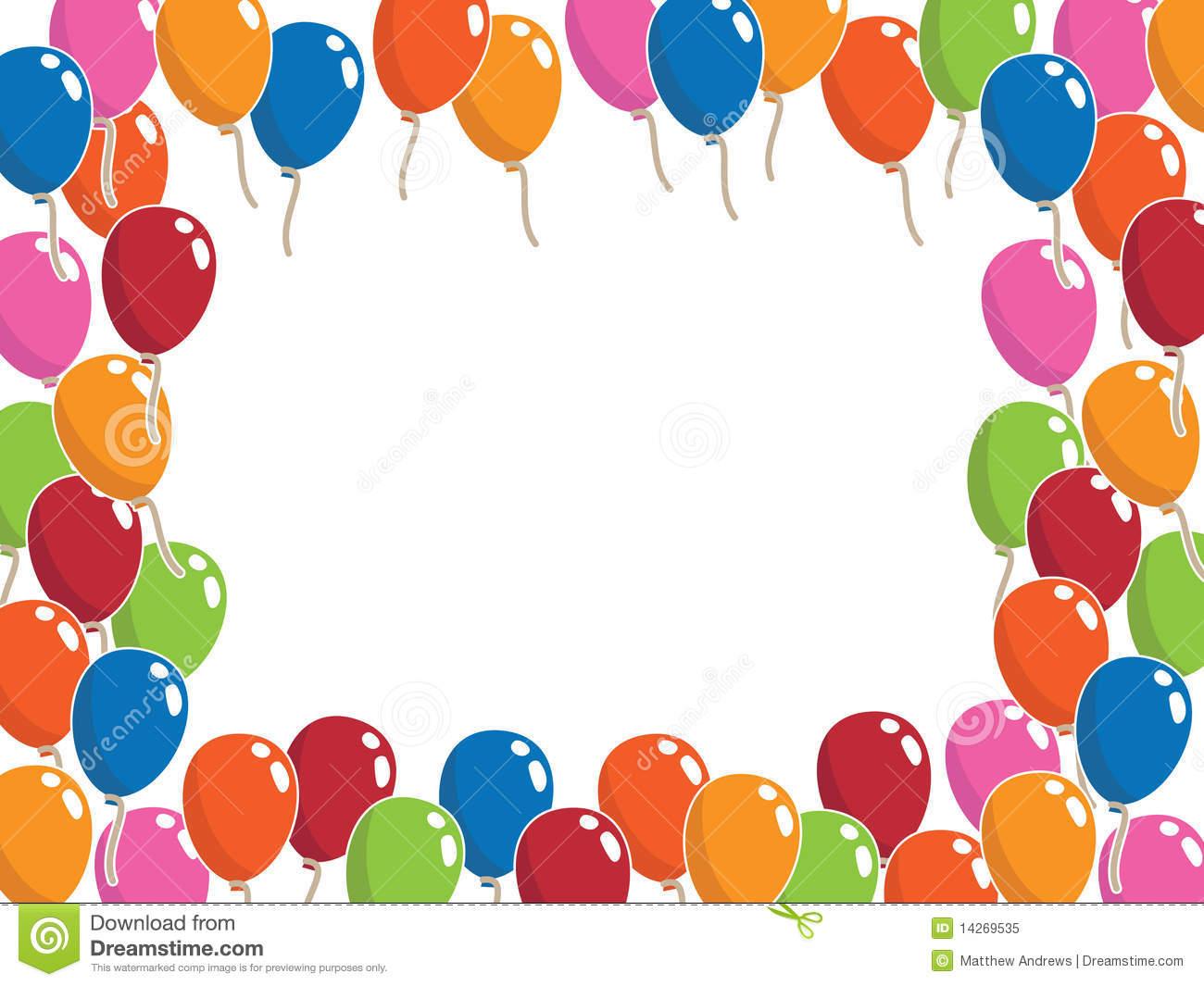 Balloon Frame Stock Vector Illustration Of Stationery